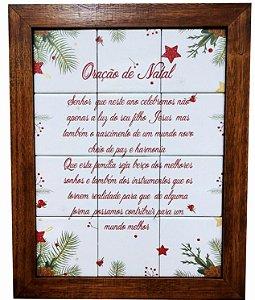 3093AM-073 Quadro de azulejo - Oração Natal