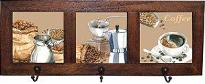 3013-005 Quadro cabideiro triplo - Grão Café
