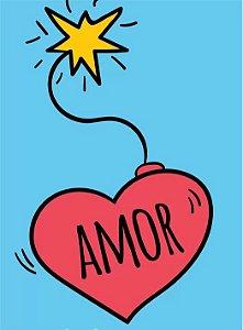 3676 Placa de Metal - Amor
