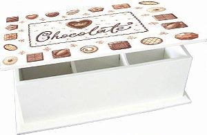 6004-009 Caixa de chá 6 divisórias - Chocolate