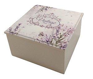 6007-003 Caixa quadrada - Vintage Flower