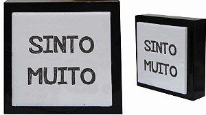07-04-P058 Cubo Decor Preto - Sinto Muito