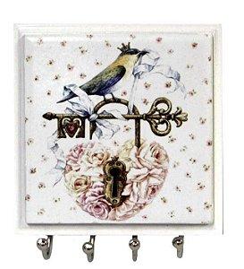 1470-038 Porta chaves Azulejo - Pássaro chave