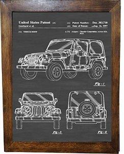 3093PG-084 Quadro Poster - Jeep