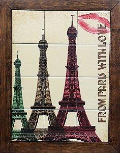 3093AM-080 Quadro de azulejo - Paris