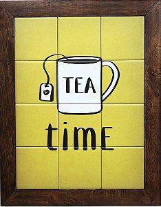 3093AM-082 Quadro de azulejo - Tea time