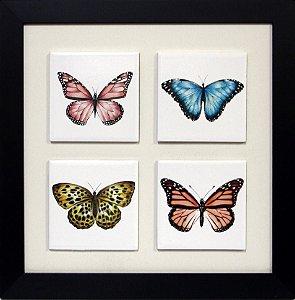3004-017 Quadro de azulejo Decor - Borboletas