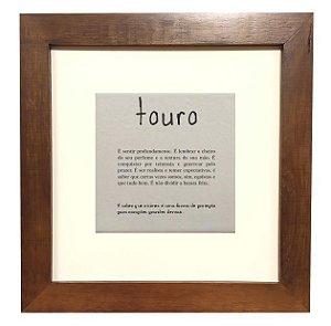 3001M-004 Quadro decor madeira- Touro