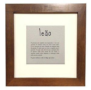 3001M-009 Quadro decor madeira - Leão