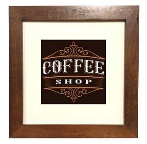 3001M-026 Quadro decor madeira - Coffee Shop