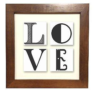 3004M-002  Quadro decor madeira - Love