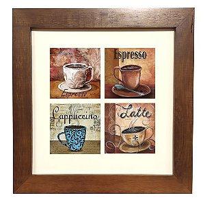 3004M-004  Quadro decor madeira - Café