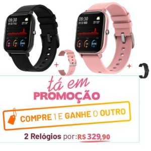 RELÓGIO INTELIGENTE - SMART WATCH P8 PAGUE 1 LEVE 2