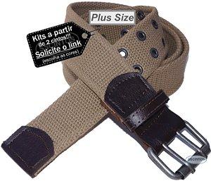 Cinto Plus Size Masculino Lona Premium 2 Bordas 4cm L39 Ck