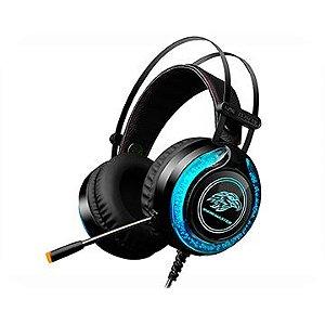 HEADSET GAMER KMEX MIC AR930 PRETO LED RGB