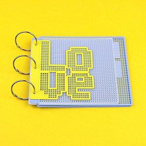 Kit Mini Álbum Eco Tela Tapeçaria 15x15 cm