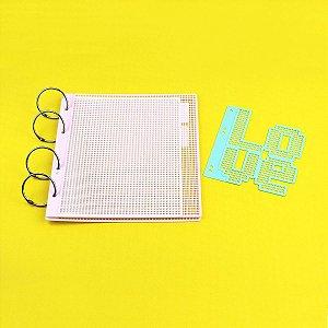 Acessórios para Álbum Eco Tela Tapeçaria Padrão Snap