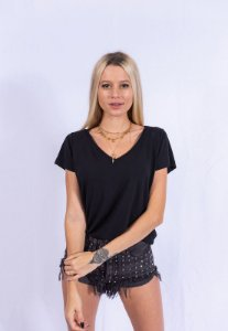 Camiseta T-shirt Básica Up Side Wear Preta