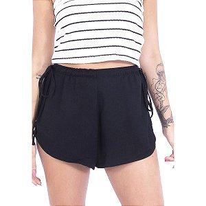 Shorts de Viscose Preto