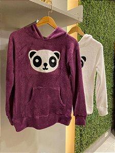 Blusa manga longa Urso Panda