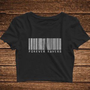 Cropped Forever Ravers Barcode - Rave ON