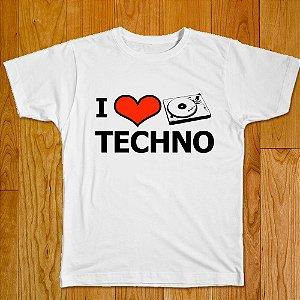Camiseta I Love Techno - Rave ON