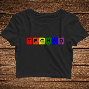 Cropped Techno Colors No Homophobia - Rave ON