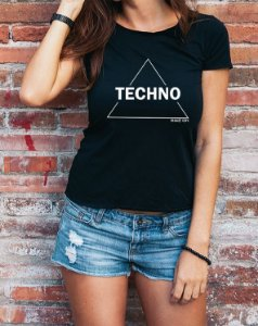 Baby Long Techno Triangle Preta - Rave ON
