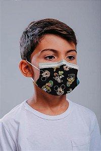 INFANTIL Máscara cirúrgica tripla c/ elástico 30 und. - ESTAMPA 4