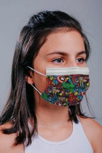 INFANTIL Máscara cirúrgica tripla c/ elástico 30 und. - ESTAMPA 6