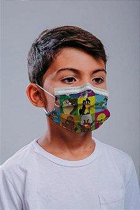 INFANTIL Máscara cirúrgica tripla c/ elástico 30 und. - ESTAMPA 7