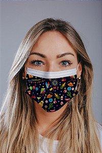 Máscara cirúrgica tripla c/ elástico cx c/ 30 und - Estampa 31