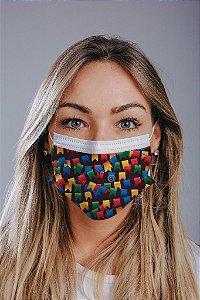Máscara cirúrgica tripla c/ elástico cx c/ 30 und - Estampa 30