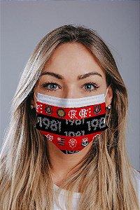 Máscara cirúrgica tripla c/ elástico cx c/ 30 und - Estampa 27