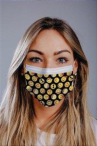 Máscara cirúrgica tripla c/ elástico cx c/ 30 und - Estampa 4