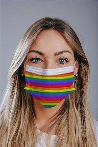 Máscara cirúrgica tripla c/ elástico cx c/ 30 und - Estampa 14