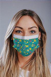 Máscara cirúrgica tripla c/ elástico cx c/ 30 und - Estampa 18