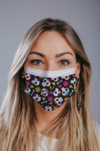Máscara cirúrgica tripla c/ elástico cx c/ 30 und - Estampa 20