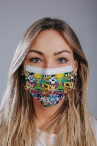 Máscara cirúrgica tripla c/ elástico cx c/ 30 und - Estampa 21