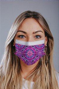 Máscara cirúrgica tripla c/ elástico cx c/ 30 und - Estampa 24