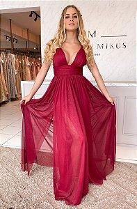 Vestido Glitter red