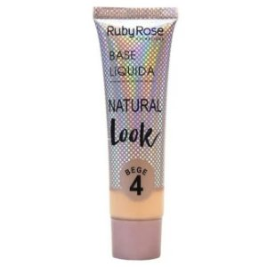 BASE LÍQUIDA NATURAL LOOK RUBY ROSE - BEGE 4