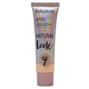 BASE LÍQUIDA NATURAL LOOK RUBY ROSE - BEGE 7