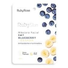 MÁSCARA FACIAL RUBY SKIN BLUEBERRY E BANANA RUBY ROSE