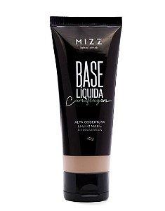 BASE LÍQUIDA CAMUFLAGEM MIZZ - BEGE ESCURO 01
