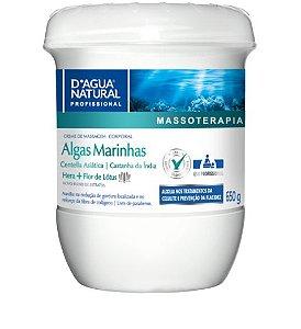 CREME DE MASSAGEM CORPORAL ALGAS MARINHAS 650G D'ÁGUA NATURAL