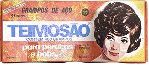 GRAMPOS DE AÇO PARA CABELO PRETO NÚMERO 7 COM 400 UNIDADES TEIMOSO