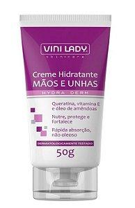 CREME HIDRATANTE MÃOS E UNHAS 50G VINI LADY