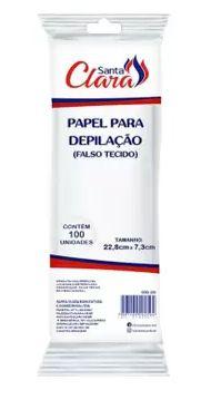 PAPEL PARA DEPILAÇÃO FALSO TECIDO 100 UNIDADES SANTA CLARA