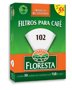 Filtro Floresta para Café 102  Reutilizável 30 un